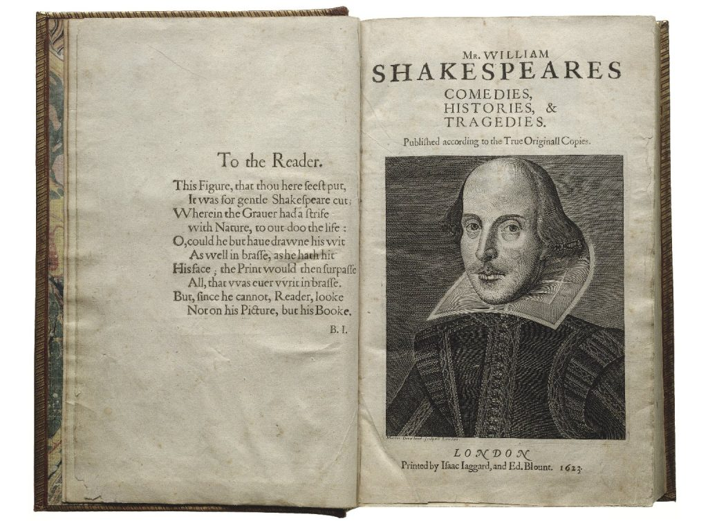 Image of the title page of William Shakespeare's Comedies, Histories, and Tragedies