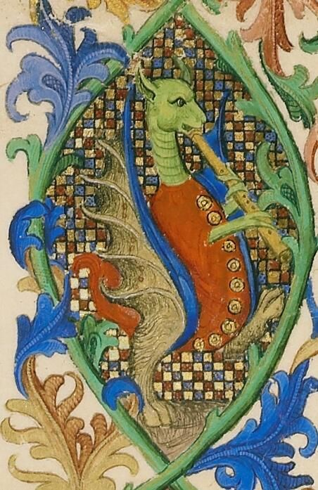 A manuscript image of a mythical creature