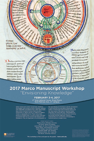 "12th Annual Marco Manuscript Workshop: ""Envisioning Knowledge"""