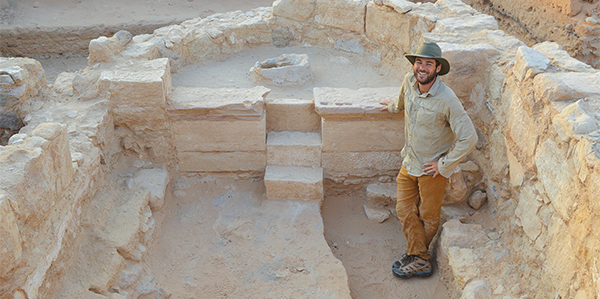 UT alumnus and excavation supervisor Tony LoPiano (Duke University) stands in the apse of the late antique church.