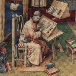 Image of a man writing.