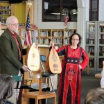 Images of people with medieval instruments