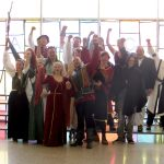 Image of people dressed in medieval costumes