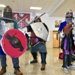 Image of people dressed in medieval armor
