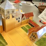 Image of a paper model of a medieval town